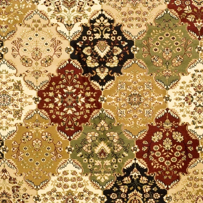 Lyndhurst Collection Multicolor/ Ivory Rug (8' x 11')