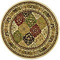 Lyndhurst Collection Multicolor/ Ivory Rug (5'3 Round)