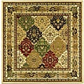 Lyndhurst Collection Multicolor/ Ivory Rug (6' Square)