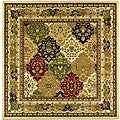 Lyndhurst Collection Multicolor/ Ivory Rug (8' Square)