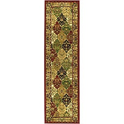 Lyndhurst Collection Multicolor/ Red Runner (2'3 x 12')
