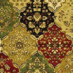 Lyndhurst Collection Multicolor/ Red Runner (2'3 x 8')