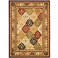 Lyndhurst Collection Multicolor/ Red Rug (5'3 x 7'6)