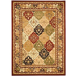 Lyndhurst Collection Multicolor/ Red Rug (6' x 9')