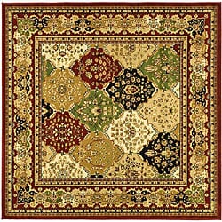 Safavieh Lyndhurst Collection Multicolor/Red Area Rug (6' Square)