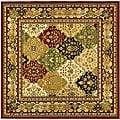 Lyndhurst Collection Multicolor/Red Polypropylene Rug (8' Square)