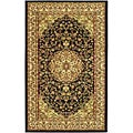 Lyndhurst Collection Black/ Ivory Rug (3'3 x 5'3)