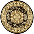 Safavieh Lyndhurst Collection Black/ Ivory Area Rug (5'3 Round)