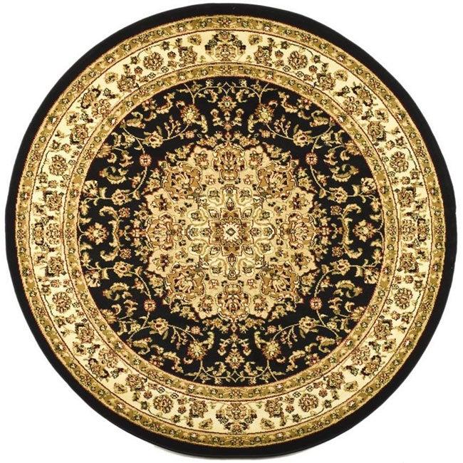 Safavieh Large Lyndhurst Collection Black/Ivory Rug (8' Round)