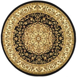 Safavieh Large Lyndhurst Collection Black/Ivory Rug (8' Round)