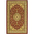 "Lyndhurst Collection Red/Ivory Polypropylene Rug (3'3"" x 5'3"")"