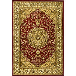 Safavieh Lyndhurst Collection Red/ Ivory Rug (5'3 x 7'6)