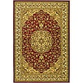 Lyndhurst Collection Red/ Ivory Rug (5'3 x 7'6)