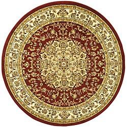 Safavieh Lyndhurst Collection Red/ Ivory Rug (5'3 Round)