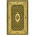 Lyndhurst Collection Traditional Sage/ Ivory Rug (3'3 x 5'3)