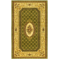 Lyndhurst Collection Traditional Sage/ Ivory Rug (5'3 x 7'6)