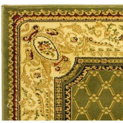 Lyndhurst Collection Traditional Sage/ Ivory Rug (8' x 11')