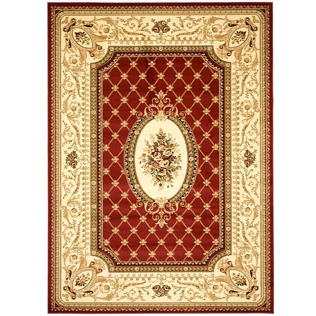 Safavieh Lyndhurst Collection Traditional Red/ Ivory Rug (8' x 11')