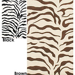 nuLOOM Handmade Zebra Animal Pattern Wool Rug (6' x 9')