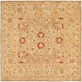Handmade Ancestry Tan/ Ivory Wool Rug (6' Square)