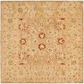 Safavieh Handmade Ancestry Tan/ Ivory Wool Rug (6' Square)