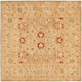 Handmade Ancestry Tan/ Ivory Wool Rug (8' Square)