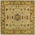 Safavieh Handmade Tribal Ivory/ Gold Wool Rug (6' Square)