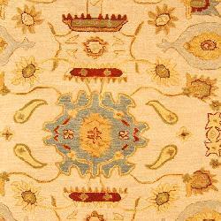 Safavieh Handmade Tribal Ivory/ Gold Wool Rug (8' Square)
