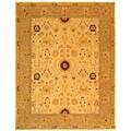 Safavieh Handmade Timeless Ivory/ Sand Wool Rug (9' 6 x 13' 6)