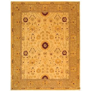 Safavieh Handmade Timeless Ivory/ Sand Wool Rug (5' x 8')