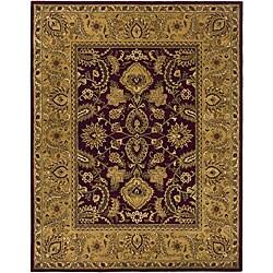 Safavieh Handmade Classic Regal Burgundy/ Gold Wool Rug (7'6 x 9'6)