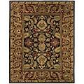 Safavieh Handmade Classic Regal Black/ Burgundy Wool Rug (7'6 x 9'6)