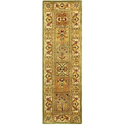 Handmade Classic Empire Wool Panel Runner (2'3 x 14')