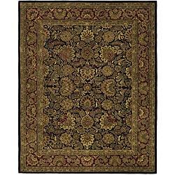 Safavieh Handmade Classic Heirloom Navy/ Red Wool Rug (6' x 9')