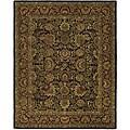 Safavieh Handmade Classic Heirloom Navy/ Red Wool Rug (7'6 x 9'6)