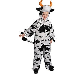 Boy's Medium Plush Cow Costume