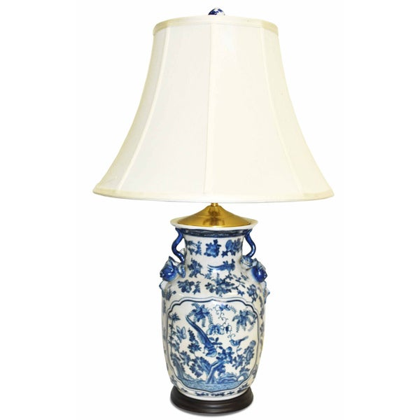 Blue Paradise Porcelain Lamp