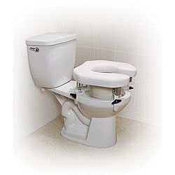 Drive Padded Raised Toilet Seat with Four Locking Brackets