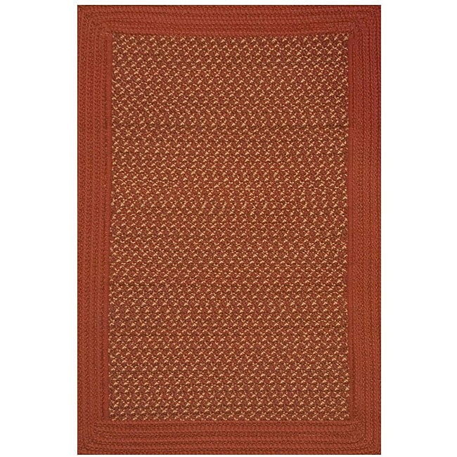 Donegal Indoor/ Outdoor Barn Red Braided Rug (3'6 x 5'6)