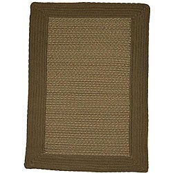 Donegal Indoor/ Outdoor Olive Braided Rug (2'6 x 4'2)