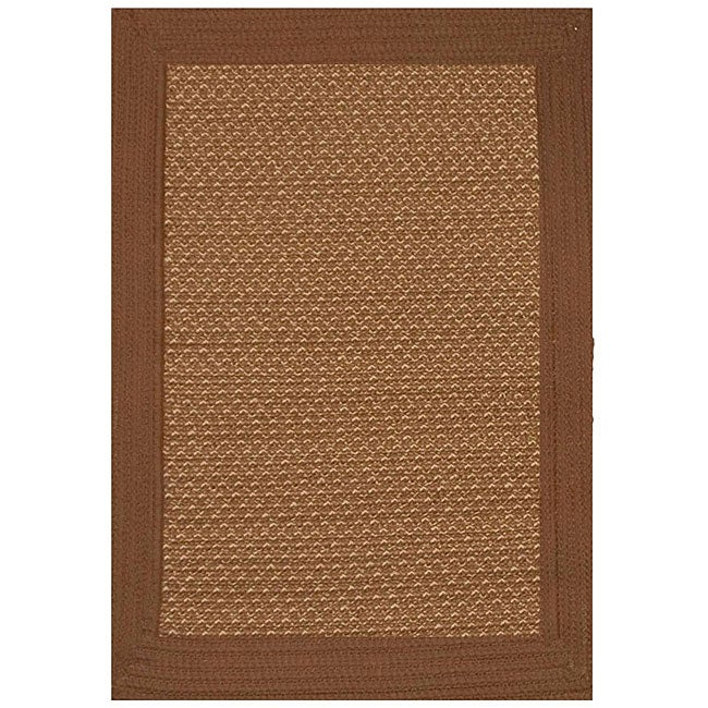 Outdoor 5x8 Area Rug: Donegal Indoor/ Outdoor Earth Braided Rug (5' X 8
