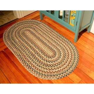 Watch Hill Bay Leaf Indoor/ Outdoor Braided Rug (3' x 5')