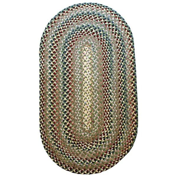 Watch Hill Bay Leaf Indoor/ Outdoor Braided Rug (8' x 11')