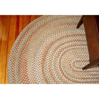 Watch Hill Camel Indoor/ Outdoor Braided Rug (5' x 8')