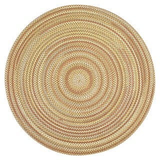 Watch Hill Camel Indoor/ Outdoor Braided Rug (8' Round)