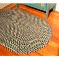 Smithfield Navy Indoor/ Outdoor Braided Rug (8' x 11')