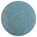 Smithfield Navy Indoor/ Outdoor Braided Rug (8' Round)
