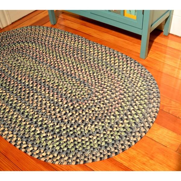 Brookline Navy Indoor/ Outdoor Braided Rug (3'6 x 5'6)