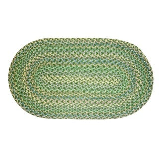 Brookline Green Indoor/ Outdoor Braided Rug (5' x 8')