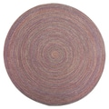 Smithfield Burgundy Indoor/ Outdoor Braided Rug (8' Round)